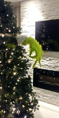 """Handmade Christmas Tree Grinch Ornament Hold Hand Whoville 38"""""""