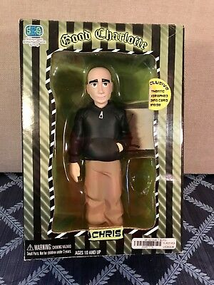 """Good Charlotte """"CHRIS"""" 9"""" Action Figure Doll W/ Signed Autographed Card NIB"""