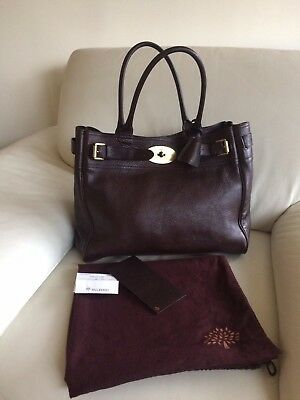 Beautiful Authentic Mulberry Bayswater Tote Bag in Chocolate Brown with  Receipt 566bb03c0436d