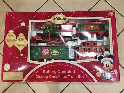 Disney Parks Holiday Express Christmas Train Set With Donald Duck Complete