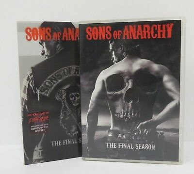 Sons of Anarchy: The Final Season ~ (DVD, 2015, 5-Disc Set) ~ FREE SHIPPING