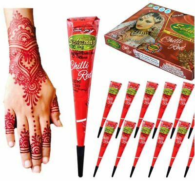 1 Pc. Instant Chilli Red Henna Mehandi Cone from Vimal Golecha Sehnaaz India