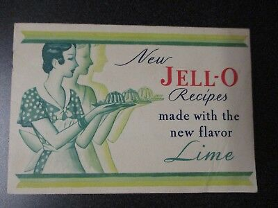 Vintage 1930 Jell-O Recipes made with the new flavor, Lime.. Booklet..