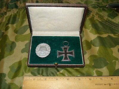 Imperial German Deluxe Cased Iron Cross & Silver Wound Badge