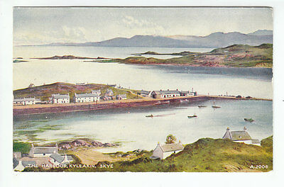 The Harbour Kyleakin Isle Of Skye c1953 Edward Thompson Valentines A2006 Old PC