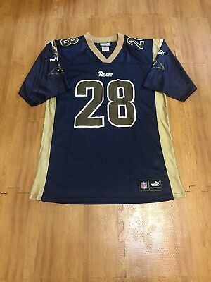 66b1f7ba7 Vintage St. Louis Rams Marshall Faulk  28 NFL Football Adult Large Puma  Jersey