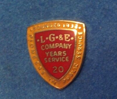 L G & E Louisville Gas & Electric 20 Year 10K & Gold Filled Service Pin