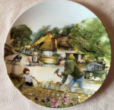 'THE DRY-STONE WALLER' Royal Doulton Bone China Plate - Old Country Crafts -