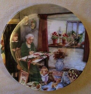 'THE EMBROIDERESS' Royal Doulton China Collectors Plate - Old Country Crafts -