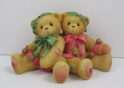 """Cherished Teddies Bonnie and Harold """"Bring in the Holidays With Me"""" 1998 Enesco"""