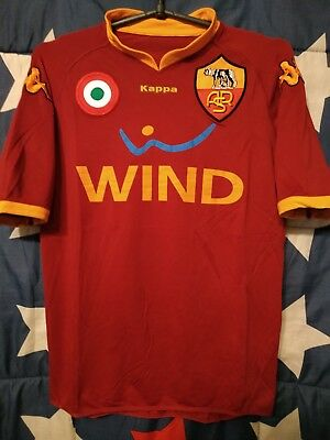 As Roma Italy 2007/2008 Home Football Shirt Jersey Maglia Calcio Size S Adult