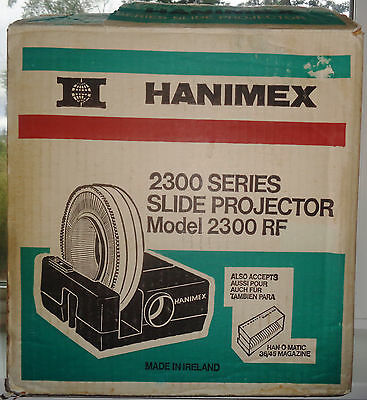 Hanimex 2300S Slide Projector 85MM Vintage In Box