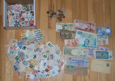 Cleaning up clearance lots - stamps, coins, banknotes + more Free Ship