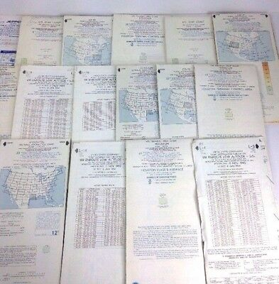 Aeronautical Chart VFR Lot World US 80s 90s Aviation Transportation Collectible