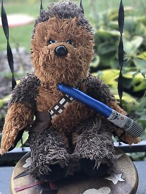 Build a Bear Star Wars Chewbacca Wookie Talking Sound Plush Stuffed Toy Brown