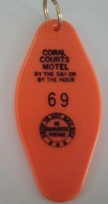 Huge Route 66 St. Louis Coral Court Famous *gone* Hourly Motel Key Ring Room #69