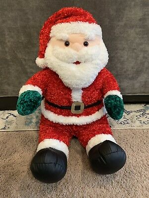 """Stuffed Big Red Jolly Santa Claus Plush 24"""" Soft Toy Tall JCPenney Christmas"""