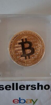 🔥 Bitcoin BTC Gold Plated Physical Collector Coin 2017 - In Crypto We Trust 🔥