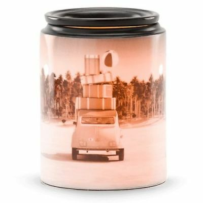 Authentic Full Size Scentsy Brand Warmer-Pack Your Bags- Free Extra Bulb & Wax