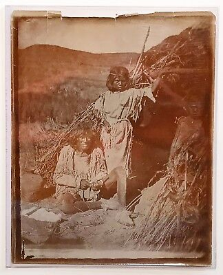 """J. HILLERS. A later photograph of """"Paiute Indian Chipping a Knife."""" Circa 1920."""
