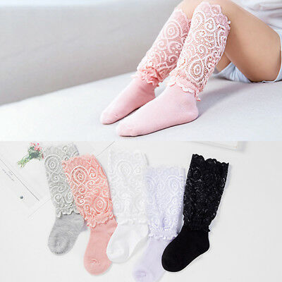 Girls Princess Toddler Girls Mid-Knee High Ballerina Dress Lace Socks B