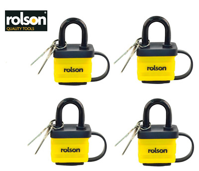 Rolson Weatherproof Laminated Padlock 40mm {2 - 8 Locks}