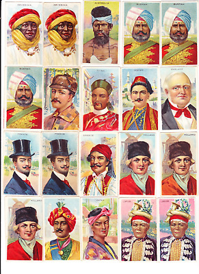 Many Nice Cards 1910 T113 Recruit Types Of Nations Pick One/more No Creases
