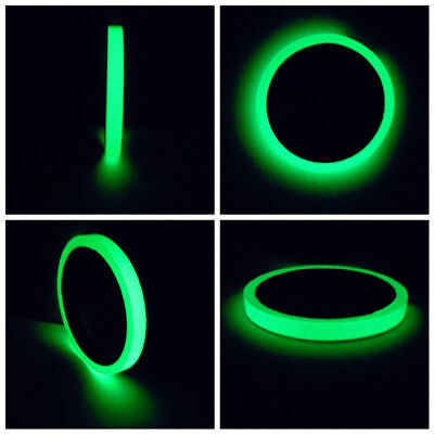 Luminous 15mm Photoluminescent Tape Glow In The Dark Stage Home Decoration