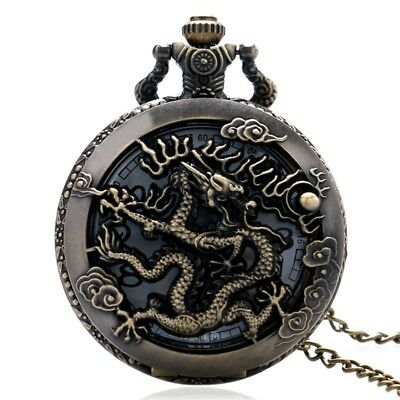Large bronze embossed hollow classic Chinese dragon Xiangyun cloud pocket w V8E6