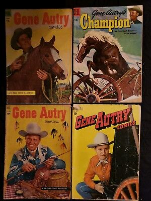 Lot Of 4 (Dell) Gene Autry Comics Western Television Series Show