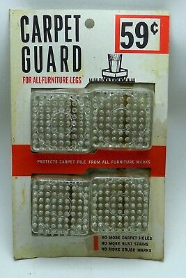 VINTAGE NEW OLD STOCK! Carpet Guard protectors for furniture! FREE SHIPPING!