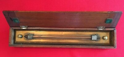 Antique Brass Marine Rolling Parallel Rule by G. Lee and Son, Portsmouth