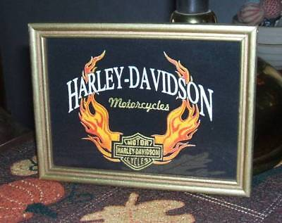 Harley-Davidson Picture Made From A T-Shirt