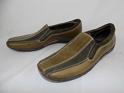 Women's Sesto Meucci Two tone Brown Suede Leather Slip On Shoes Size 9 M