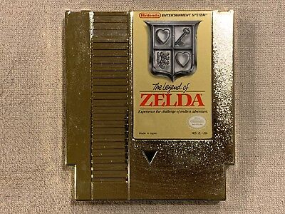 The Legend of Zelda Gold NES Nintendo Game Cartridge Tested Works Saves Perfect!