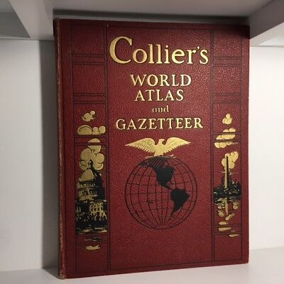 Collier's World Atlas and Gazetteer, Vintage 1937, HC