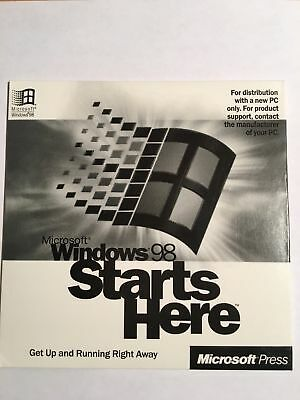 Windows 98 Starts Here NEW NEVER USED UNSEALED THOUGH