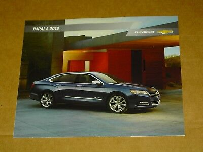 2018 Chevrolet Impala Brochure Mint! 28 Pages