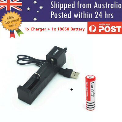 USB 18650 Battery Charger for 3.7V Rechargeable Battery NEW Design 26650 16430