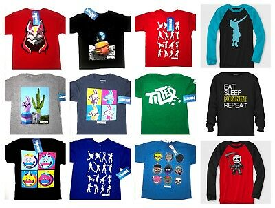 Fortnite Licensed Boys T Shirt Tee S-XXL Size 100% Cotton Many Styles to Choose