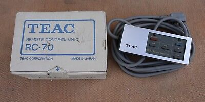 Vintage Teac Remote Control Unit RC-70 w/ Original Box Reel-To-Reel Tape Record
