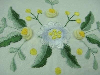 "36"" Square Embroidered Handmade Rosebud Flower Tablecloth Polyester Table Cover"
