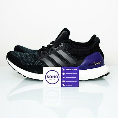 66020ccbead ADIDAS ULTRA BOOST 1.0 OG Black Purple Men s Size 11.5 (2018) G28319 ...