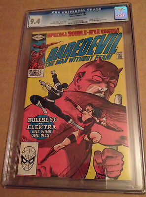 Daredevil # 181 (Cgc 9.4 Nm) Death Of Elektra / Bullseye / Miller - Marvel 1981