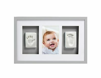 Pearhead Babyprints Newborn Baby Handprint and Footprint Deluxe Wall Photo Fr...