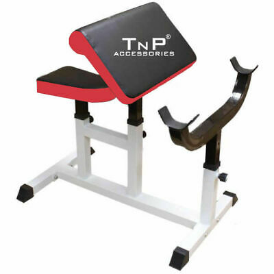 TNP Weights Bench Multi Gym Dumbell Workout Leg Bar/Preacher Curl Arms bench gym