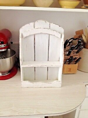 Cottage Shabby Chic Wall Spice Shelf,Antiques,Collectibles,Home & Garden,Chef