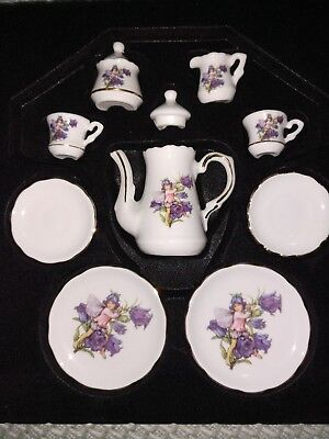 NEW Reutter Porcelain 10 Piece Mini Tea Set Cicely Mary Barker Flower Fairies