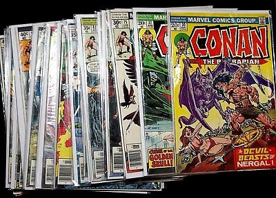 Conan The Barbarian comic lot of  24 Bronze age collection High grade  C009