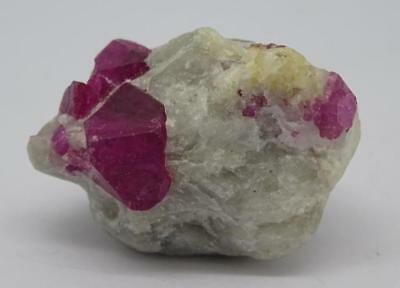 **Natural Ruby Red (Spinel) Crystals in Matrix from Vietnam 10g, High Grade**